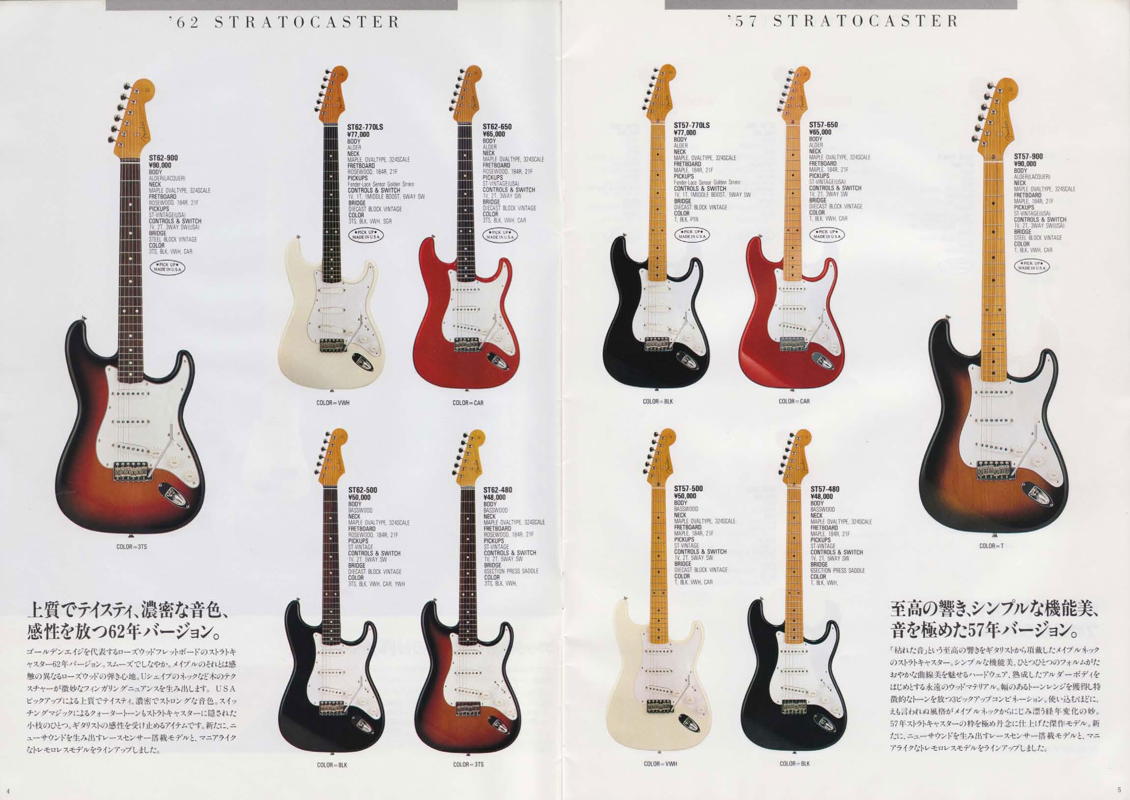 fender гитары каталог: